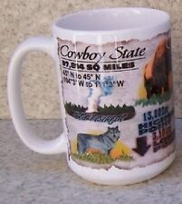 Coffee Mug Explore America Wyoming Facts Landmarks NEW 15 ounce cup w/ gift box
