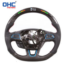 Real Carbon Fiber LED Steering Wheel for Ford Focus RS ST Performance OHC Motors
