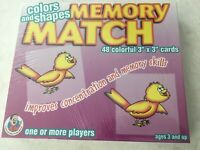 "NEW VTG Colors And Shapes Memory Match 48 3"" x 3"" Cards Frank Schaffer FS-2201"