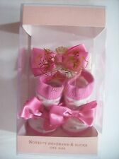Juicy Couture Baby Crib Shoes/Booties/Socks Headwrap Hearts Glitter Bows NIB