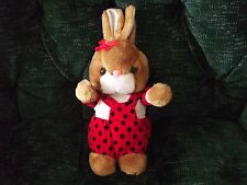"""cute 11"""" bunny rabbit red polka dot outfit Nadel & Sons Toy Corp"""