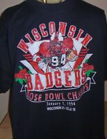 vintage 1994 Wisconsin Badgers Rose Bowl football t shirt XXL