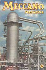 1948 FEBRUARY 33585  Meccano Magazine Cover Picture  OIL FOR BRITAIN