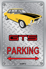 Parking Sign - Metal - HOLDEN HQ - GTS 4 DOOR - YELLOW - WELD WHEELS