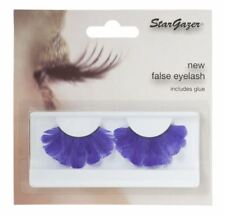 Stargazer False Feather Eyelashes #47 Purple Feathered