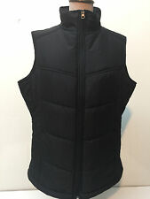 La Martina Saddlery Women Quilt Puffy Vest Black Size L New Lined Zip-Up