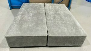 Hypnos SPRUNG FIRM EDGE DIVAN 2 DRAWERS 6ft super king 180x200 SILVER RRP £1560