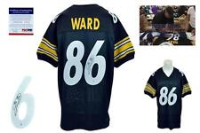 Hines Ward SIGNED Jersey - PSA/DNA - Pittsburgh Steelers Autographed - Black