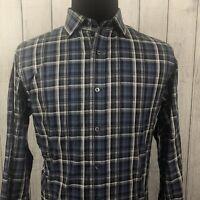 Cremieux Classics Men's Large Blue Plaid Long Sleeve Button-Front Shirt NWT