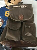 OGIO outback Steakhouse Cinch Leather Bottom Backpack Crew Employee Swag