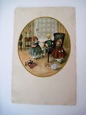 Vintage Postcard Signed by Pauli Ebner w/ Children Playing w/ Toys *