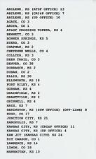 UNION PACIFIC TRAIN ORDERS (684) KANSAS PACIFIC LINE KC-DENVER 65 LOCATIONS CD!!