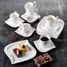 Malacasa, Serie Elvira 36 tlg. Porzellan Kaffeeservice Tasse für 12 Personen