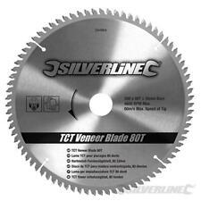 Lama per impiallacciature in TCT da 80 denti  Silverline 250 x 30 mm - anelli di