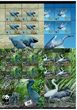 / PENRHYN - MNH - WWF - NATURE - BIRDS - EGRETS - PLANTS