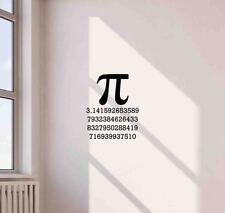 Pi Symbol Wall Decal Science School Mathematics Decor Vinyl Sticker Poster 710