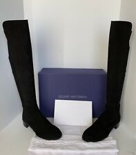 STUART WEITZMAN ALLSERVE BLACK SUEDE OVER THE KNEE BOOTS - SIZE 9M - NIB