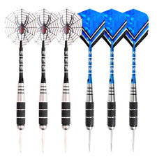 2sets Steel Tip Darts Tungsten Barrel Aluminium Shafts Professional Kit BLK+BLU