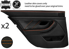 Surpiqûres orange arrière 2X complet porte carte en cuir couvre Fits BMW 5 Series E39 95-03