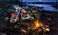 "Harley Davidson Wonderful Picture Canvas Print  Large A1 30"" x 20"""