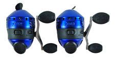 (Lot Of 2) Zebco 33 Custom Blue Gear Ratio Spincast Reel With 10Lb Line 21-10486