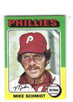 1975 Topps Mini Mike Schmidt Card No. 70 EX/MT+ HOF!