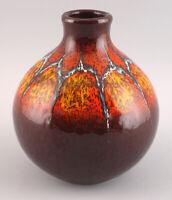 8345045 Keramik Vase Laufglasur orange Art déco um 1920