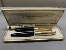 PARKER 51  FOUNTAIN PEN VACUMATIC  and PENCIL BOXED Extra LEADS !