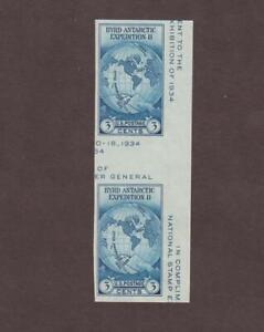 US,768,MNH ,VF,GUTTER PAIR, FARLEY 1935 BYRD ANTARTICA,MINT NH,NGAI