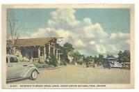 Postcard AZ Bright Angel Lodge Grand Canyon Arizona Vintage Cars
