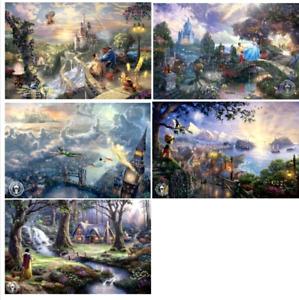 Thomas Kinkade SET OF 5 Exclusive Open Edition DISNEY prints