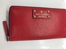 Kate Spade Lacey Bay Street Black Zip Around Leather Wallet $198