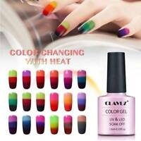 CLAVUZ Lacquer Thermal Color-Changing Chameleon Gel Nail Polish Varnish Shiny US