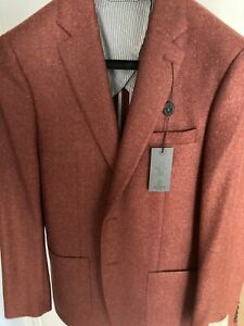 Todd Snyder Sutton Lambswool/Cashmere Sport Coat in Red 38R