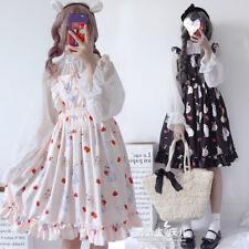 Harajuku Girl Japanese Cute Rabbit Print Princess Lolita JSK Sleeveless Dress