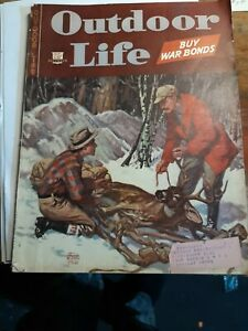 Outdoors Magazine December 1944 Vintage
