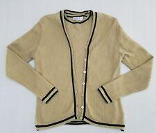 EUC Tail White Label Golf Tan Herriingbone Knit Sweater/Cardigan Set Size M R6