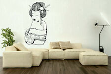 Wall Vinyl Art Sticker Geisha Asian Japanese Girl Woman Oriental Decal hi108