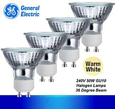 4 x 50W GU10 Halogen Reflector Globes Bulbs Lamps Dimmable 240V General Electric