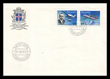 Iceland 1978 FDC, 50th Anniversary of Domestic Air Service. Aviation. Lot # 4.