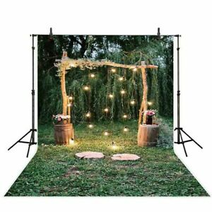 9x6FT Photography Backdrops Studio Background Green Print Party Photo Prop