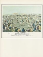 "COLOR Lithograph 1972 Vintage Currier /& Ives BOXING /""YANKEE DOODLE MUSCLE/"" WOW"