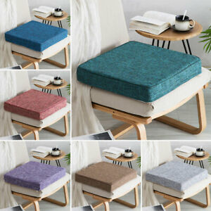 Chair Cushion Thicken Floor Meditation Mat Seat Patio Office Square Solid Pad