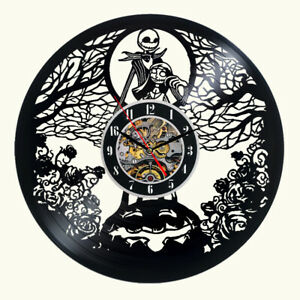 The Nightmare Before Christmas Art Modern Wall Clock Vinyl Record Clock Print