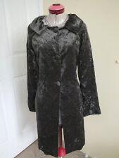 BIANCA SPENDER for CARLA ZAMPATTI Grey Velvet FROCK COAT Size 8 Gothic Pockets