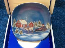 "ARABIA Finland  plate about 4 3/4"" across.   Collector Plate Lapp Woman by Anita"