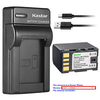Kastar Battery Slim Charger for JVC BN-VF823 & GZ-MG131 GZ-MG131EK GZ-MG131EX