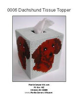 Dachshund Dog Tissue Topper-Plastic Canvas Pattern or Kit