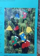 Christmas! Rare Knitting Pattern: Felted Christmas Ornaments By Fiber Trends