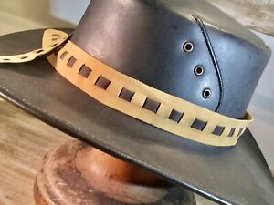 PU leather hat band fits all hats  Reversible  adjustable soft